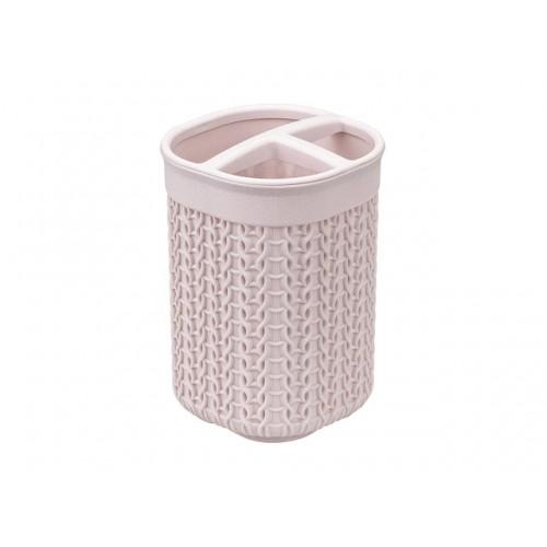 Подставка для зубных щёток ВЯЗАНИЕ (чайная роза), РФ