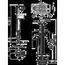 """Выпускной комплект с нижним подводом воды с двойной кнопкой 1/2"""" Alcaplast SA08ASK, Чехия"""