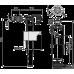 """Выпускной комплект с боковым подводом воды со стоп кнопкой металлическая резьба 1/2"""" Alcaplast SA2000K, Чехия"""