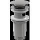Водослив А392 для умывальника click/clack 5/4, цельнометаллический Alcaplast, Чехия