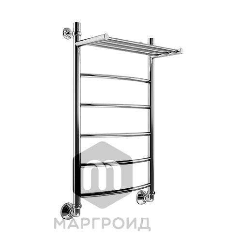 Полотенцесушитель В4 Р100*50 с полкой г/г нижнее подключение, РФ
