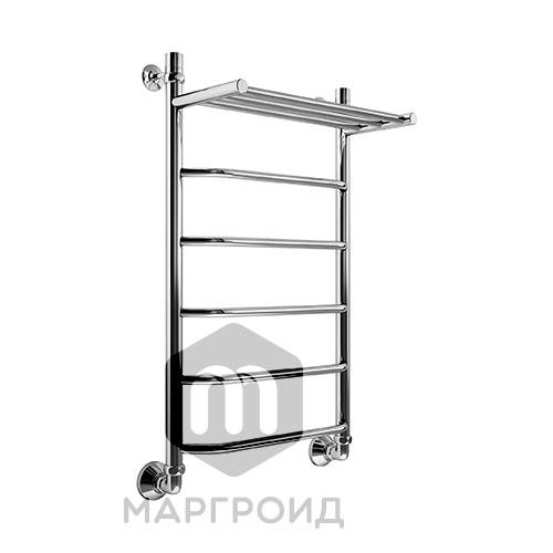 Полотенцесушитель В6 Р80*50 с полкой г/г нижнее подключение, РФ