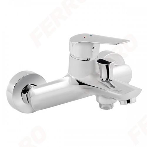 Смеситель Dijon для ванны настенный с коротким изливом без душевого комплекта FERRO BDJ1, Польша