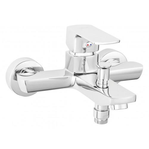 Смеситель Alba VerdeLine для ванны настенный с коротким изливом без душевого комплекта FERRO BLB1VL, Польша