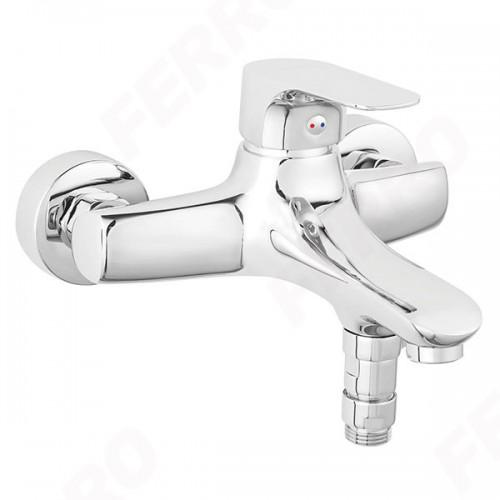 Смеситель Tiga VerdeLine для ванны настенный с коротким изливом без душевого комплекта FERRO BTG1VL, Польша