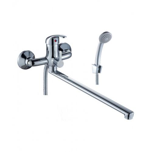 A 35-32 смеситель одноручн. д/ванны (35мм) с плоским изл. 350 мм, хром, РФ