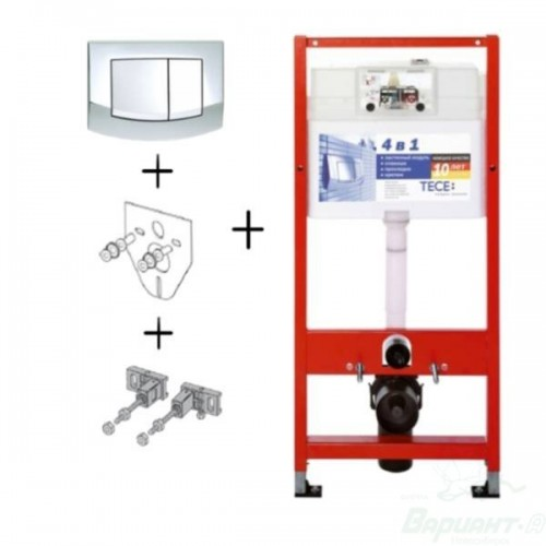 Инсталляция для подвесного унитаза TECEbase kit (4 в 1) 9.400.005, Германия