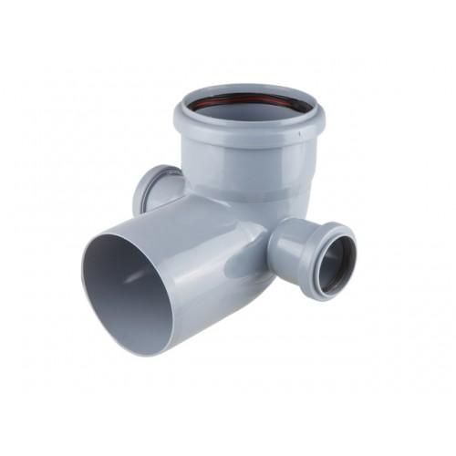 Колено для внутренней канализации 110/50/50х87 левый/правый, РФ
