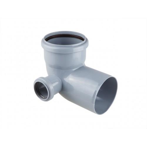 Колено для внутренней канализации 110/50х87 левый, РФ
