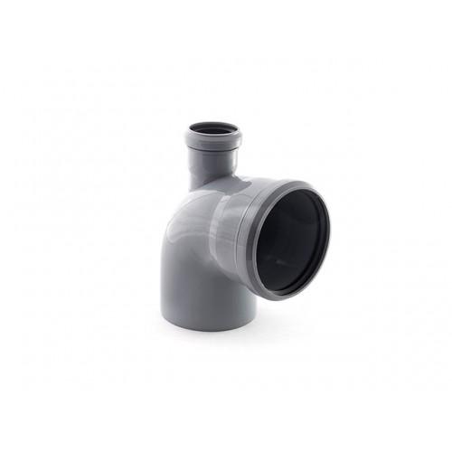 Колено для внутренней канализации 110/50х87 выход вверх, РФ