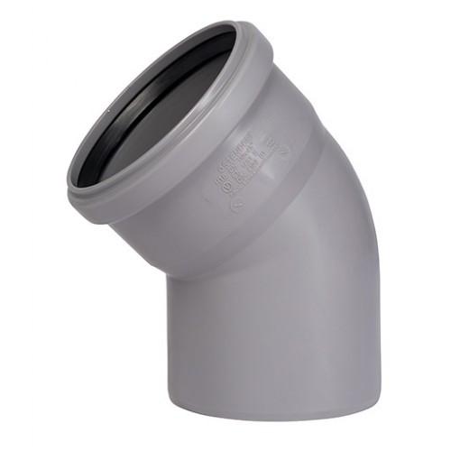 Отвод ПП для внутренней канализации Dn 110х45, РФ