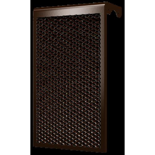 Декоративный металлический экран 4-х секционный КОРИЧНЕВЫЙ 4ДМЭР кор, РФ