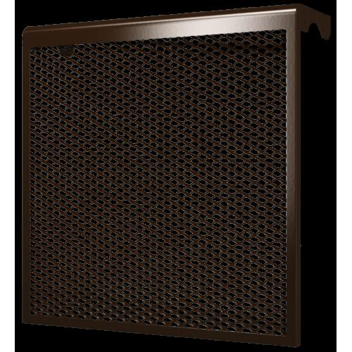 Декоративный металлический экран 6-и секционный КОРИЧНЕВЫЙ 6ДМЭР кор, РФ