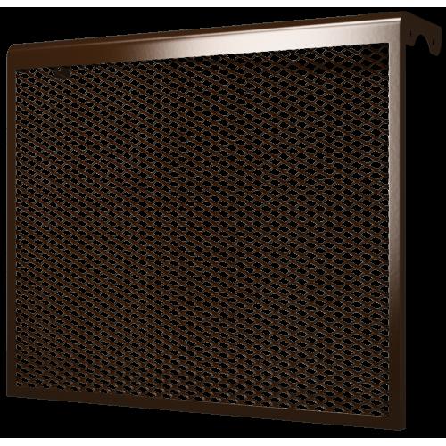 Декоративный металлический экран 7-и секционный КОРИЧНЕВЫЙ 7ДМЭР кор, РФ