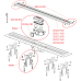 Водоотводящий желоб APZ9-750M с порогами для перфорированной решётки 750 мм, Чехия