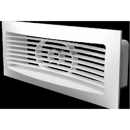 Решётка вентиляционная 234х90 мм с фланцем 60х204мм ЭРА 620РСФ, РФ