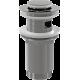 Водослив А391 для умывальника click/clack 5/4, цельнометаллический Alcaplast, Чехия